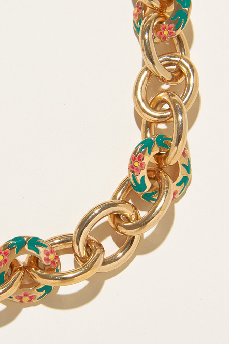 Mignonne Gavigan Hibiscus Flora Link Necklace - Gold