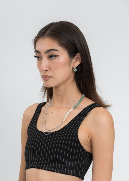 William Shen Chains With Pearl And Jade Necklace - Silver