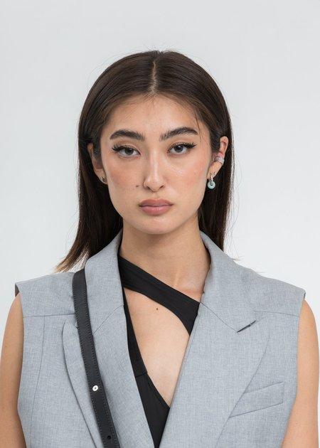 William Shen WHITE Zircon Ear Cuff - Sliver