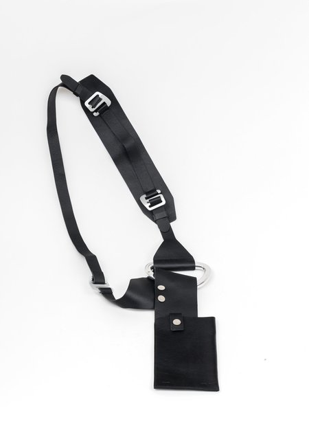 Heliot Emil Leather Harness Phone Holder - Black