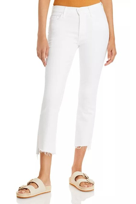 Mother Denim The Insider Crop Step Fray Jeans - Fairest Of Them All