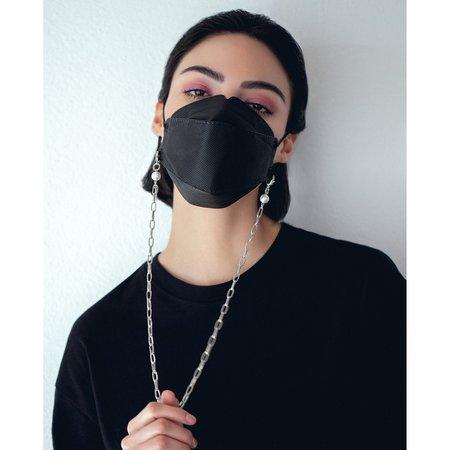Joomi Lim Chain Mask Holder Necklace - Brass