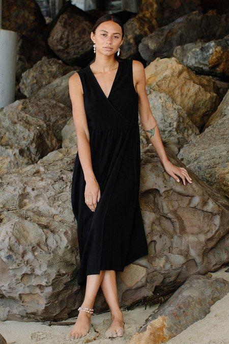 Rachel Pally Linen Paige Dress - black