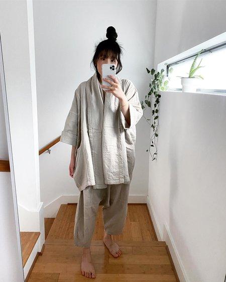 Atelier Delphine Haori Cotton Coat - Stone