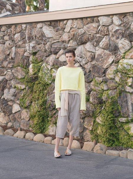 Atelier Delphine Kiko Wrinkled Cotton Pant - Stone
