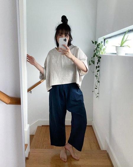 Uzi NYC Cotton Pants - Navy