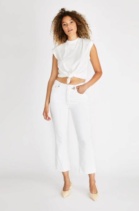 Etica Josie Pop Crop pants - Vintage White