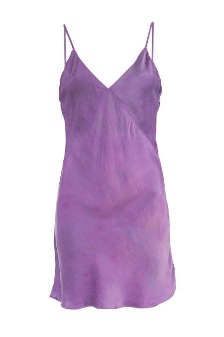 abacaxi Cochineal-Dyed Silk Slip Dress - 2-tone Violet