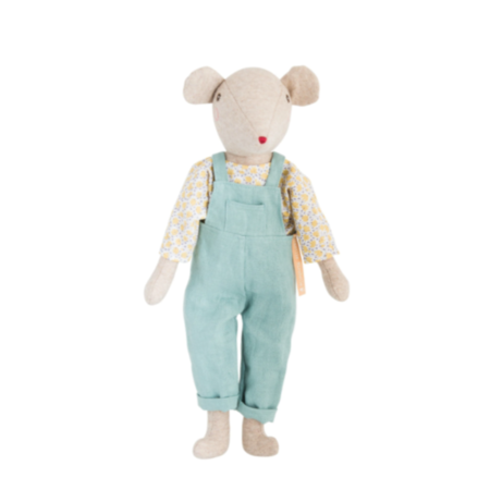 Kids Moulin Roty Papa Chicore dungarees - light blue