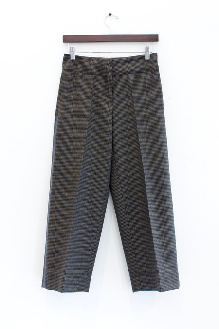 Ottod'ame Wide leg cropped wool pant