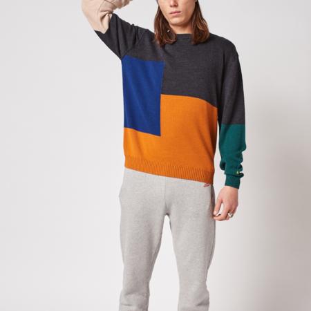 Bobo Choses Intarsia Colorblock Merino Sweater