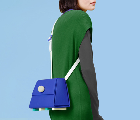 MATTER MATTERS The trapezoid shoulder bag - Blue