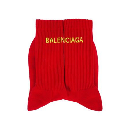 Balenciaga Logo Socks - Red