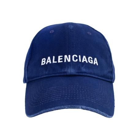 Balenciaga Logo Cap - Dark Blue