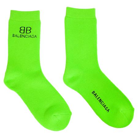 Balenciaga Logo Socks - Green