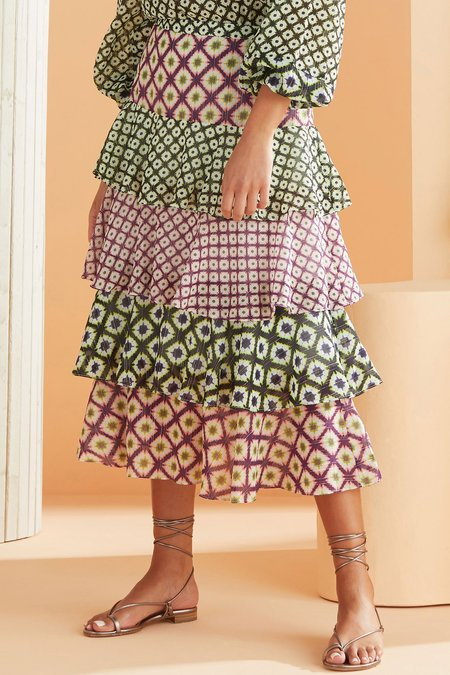 Marie Oliver ASTER TIERED SKIRT - MULTICOLOR PRINT