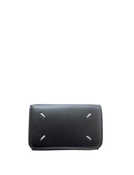 Maison Margiela Small Folding Snap Wallet - Black