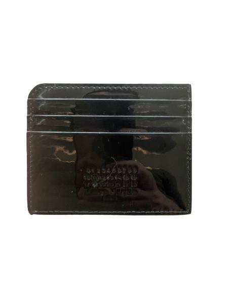 Maison Margiela Split Cardholder - Black Patent Leather