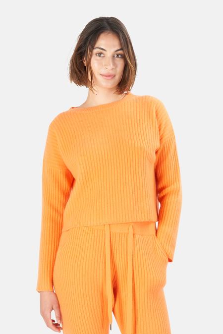 The Tile Club Chase Crop Sweater - Orange