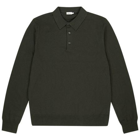 Filippa K Knitted Polo Shirt - Beluga