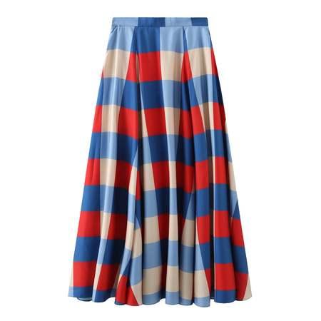 Matter Matters Secka Checked Maxi Skirt - Red Multi