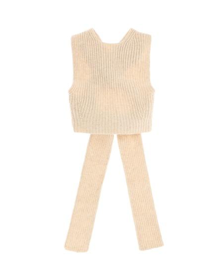 GANNI Fabric Top - beige