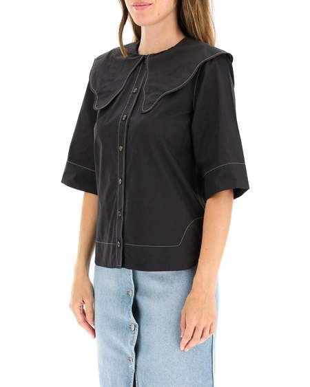 GANNI Fabric Shirt - Black