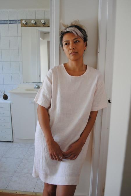 LLOYD Pink Linen Shirt Dress