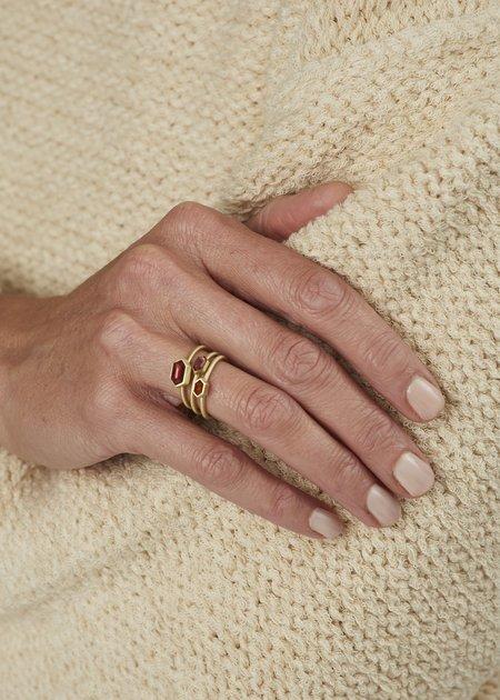 Heather Guidero Larger Spinel Ring - Orange/Brown