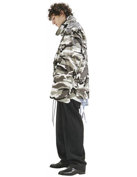 Balenciaga Off-shoulder Camouflage - print Military Parka