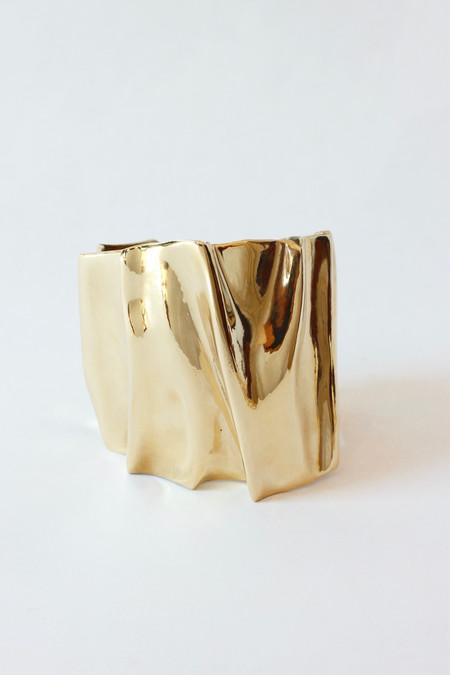 K/ller Pleat Cuff in brass KLB60