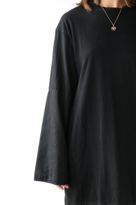 Raquel Allegra Phoebe Long Sleeve Shift Dress - Black