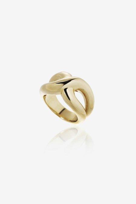 S_S.IL TWIST BOLD RING - GOLD