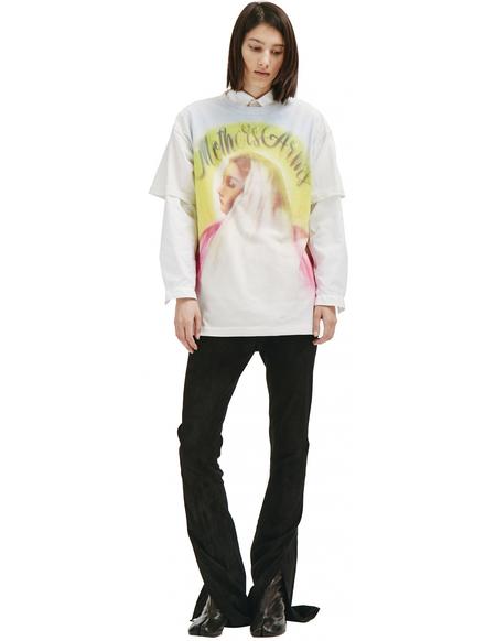 Saint Michael The Virgin Mary T-shirt - white