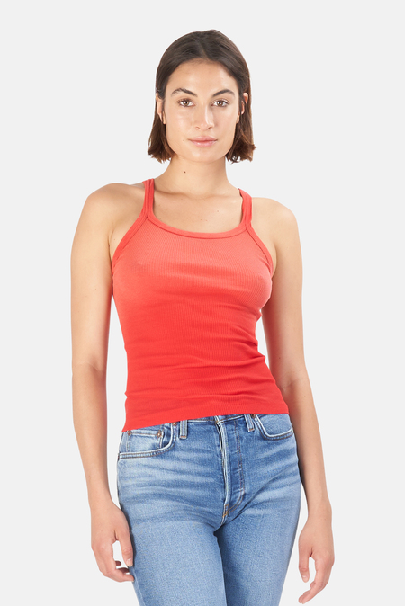 RE/DONE Ribbed Tank Top - Faded Crimson