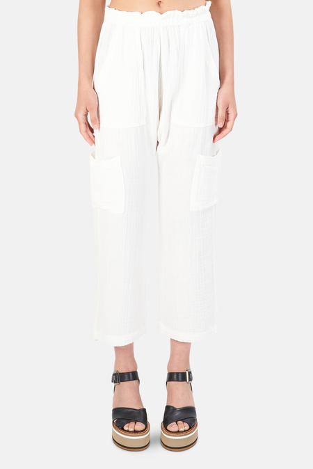 NSF Shailey Paperbag Waist Pants - soft White