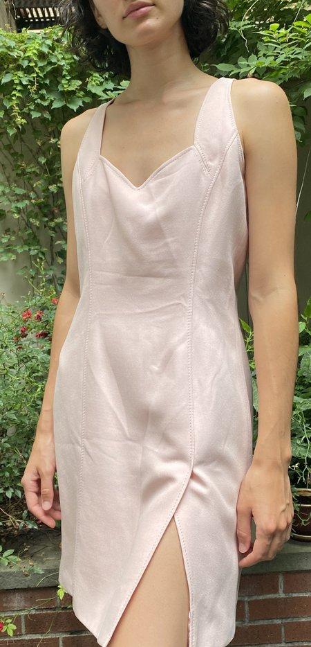 Vintage Odicini Silk Jacket and Dress - pink