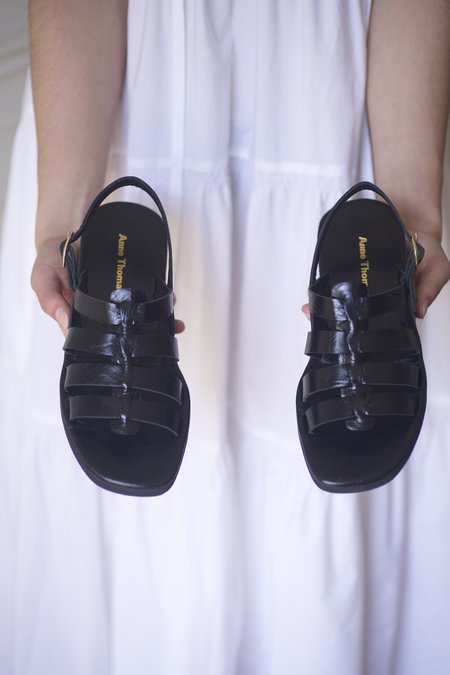Anne Thomas Jérusalem Moroder Sandals - Black