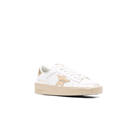 Golden Goose Stardan Leather Upper Laminated Women GWF00128.F002187.10272 low tops - White/Gold