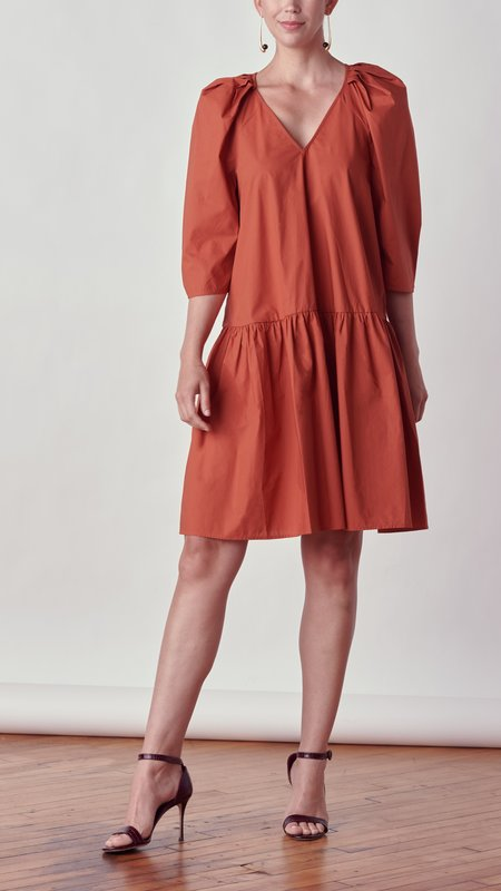 By Malene Birger Cymaria Organic Cotton Dress - Amber Ale