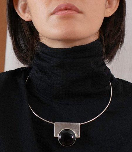 Maaari Lunar Collar - Silver/Onyx