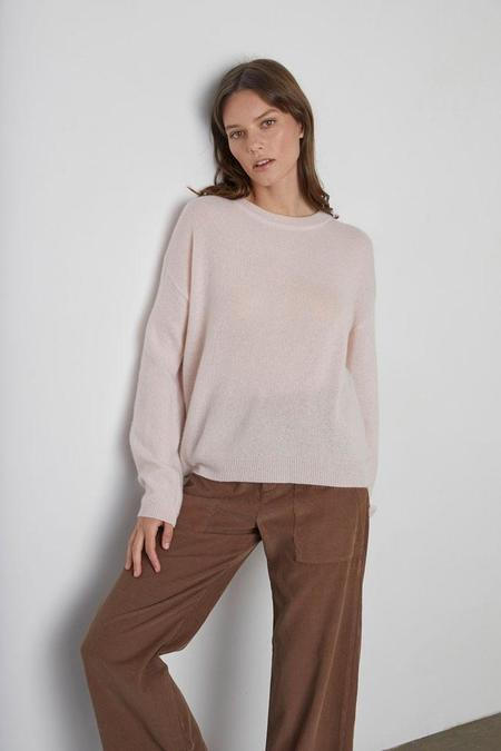 Velvet Brynne Crewneck Sweater - Ballet Pink