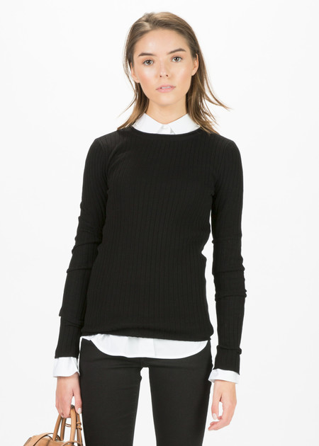 Organic by John Patrick Long Sleeve Ribbed Pullover