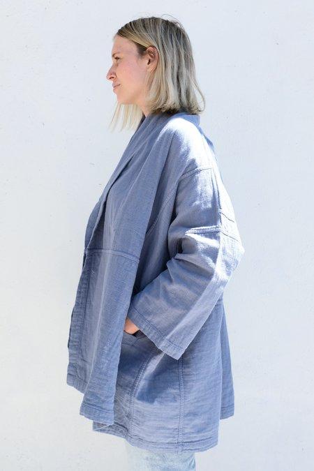 Atelier Delphine Haori Coat - Steel Blue
