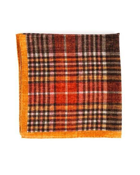 Engineered Garments Wool Neckerchief - Orange Plaid