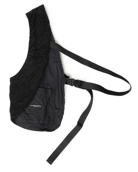 Engineered Garments Cotton 8W Corduroy Shoulder Vest - Black