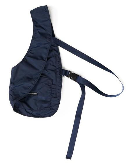 Engineered Garments Flight Satin Nylon Shoulder Vest - Navy