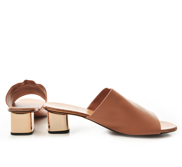 Robert Clergerie Nude Lato Slide Sandals