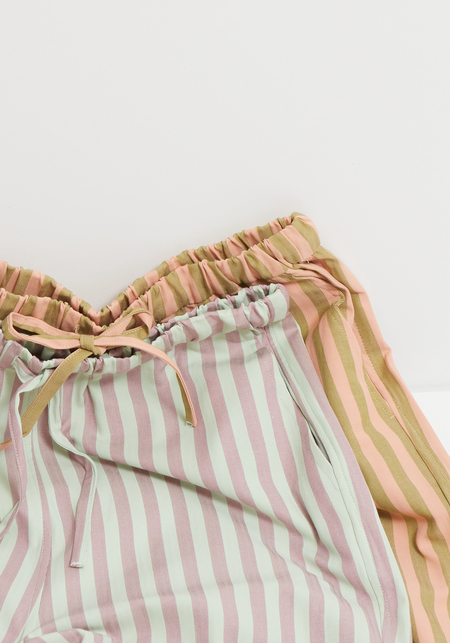 Blanca Tina Pants - Mint/Olive Stripe