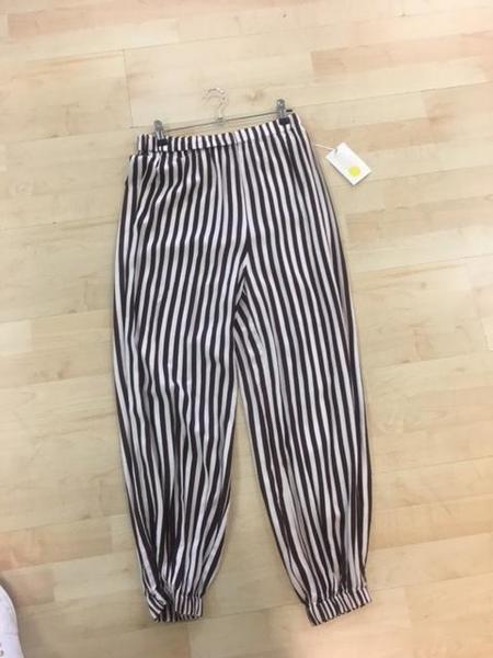 Jen's Pirate Booty SAMPLE Republique Pants - Brown/White Stripe